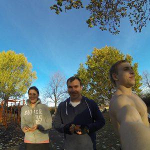 Freiluft Workout mit WIG und ISW Selfie mit Freunden aus München - Motivation – schnell Gratis Training – automatische Schritte Fitness - Calisthenics - Vienna Österreich - Austria Wien - Street Workout