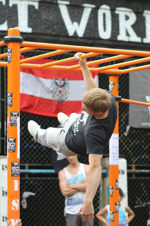 ISW Event 2016 eine Übung One Arm Frontlever