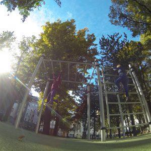 Josef Strauss Park (Keiserpark) - Trainingspark ISW - Vienna Austria - Österreich Wien Neubau - Leiter - Sportplatz - Motivation - Gratis Training - Street Workout - Calisthenics - Fitness - Garantiert