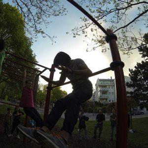 KARL KANTNER PARK – TRAININGSPARK ISW - Recke - kostenlos Studie - Motivation - Gratis Training - Fitness - Calisthenics - Street Workout - Vienna Österreich - Austria Wien - Sportplatz