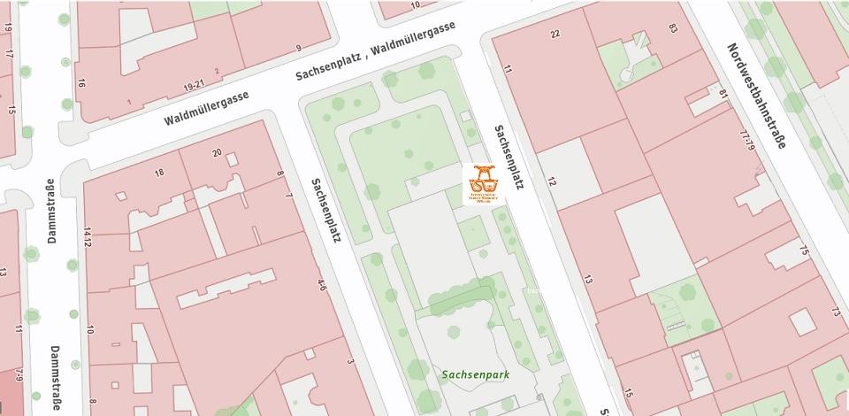 Stadtplan Wien - Sachsenpark - Sportplatz für Street Workout und Calisthenics - ISW - Vienna Austria - Österreich Wien - Brigittenau