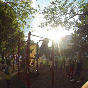 ISW Event Das Fest der Nachbarschaft Präsentation der wenigen Tricks