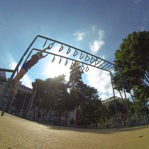 Sachsenplatz - Sportplatz - Trainingspark ISW - Vienna Austria - Österreich Wien Brigittenau - Leiter mit Ringen - schnell Motivation – sparen sofort - Gratis Training - Fitness - Calisthenics