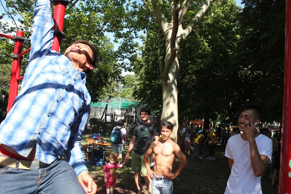 Nachbarschaftsfest in Ottakring mit ISW - International Street Workout - Einer von vier Menschen ist ein Chinese