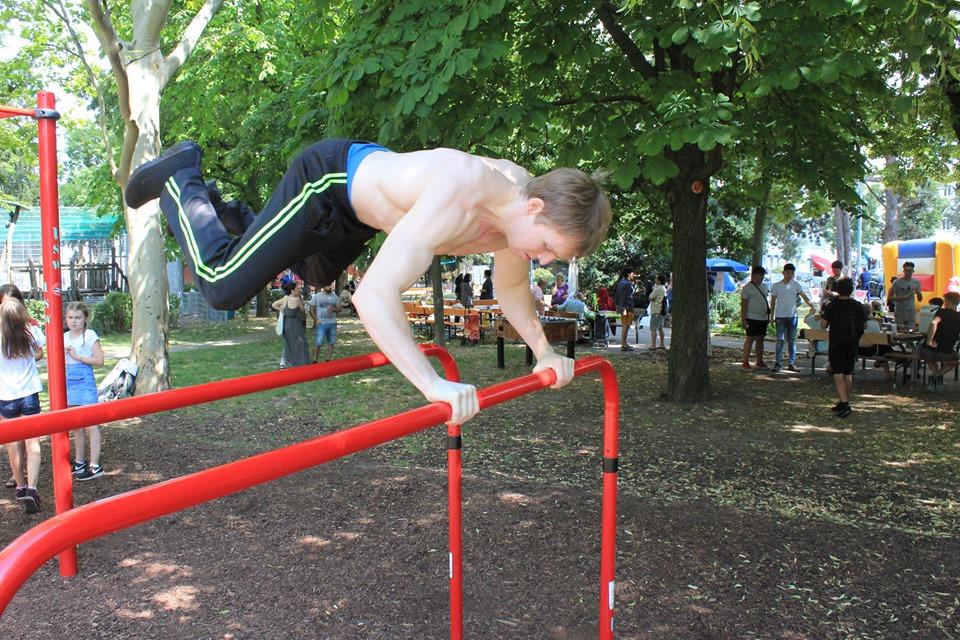 Nachbarschaftsfest in Ottakring mit ISW - International Street Workout - Haben Sie schon solche Tricks gesehen