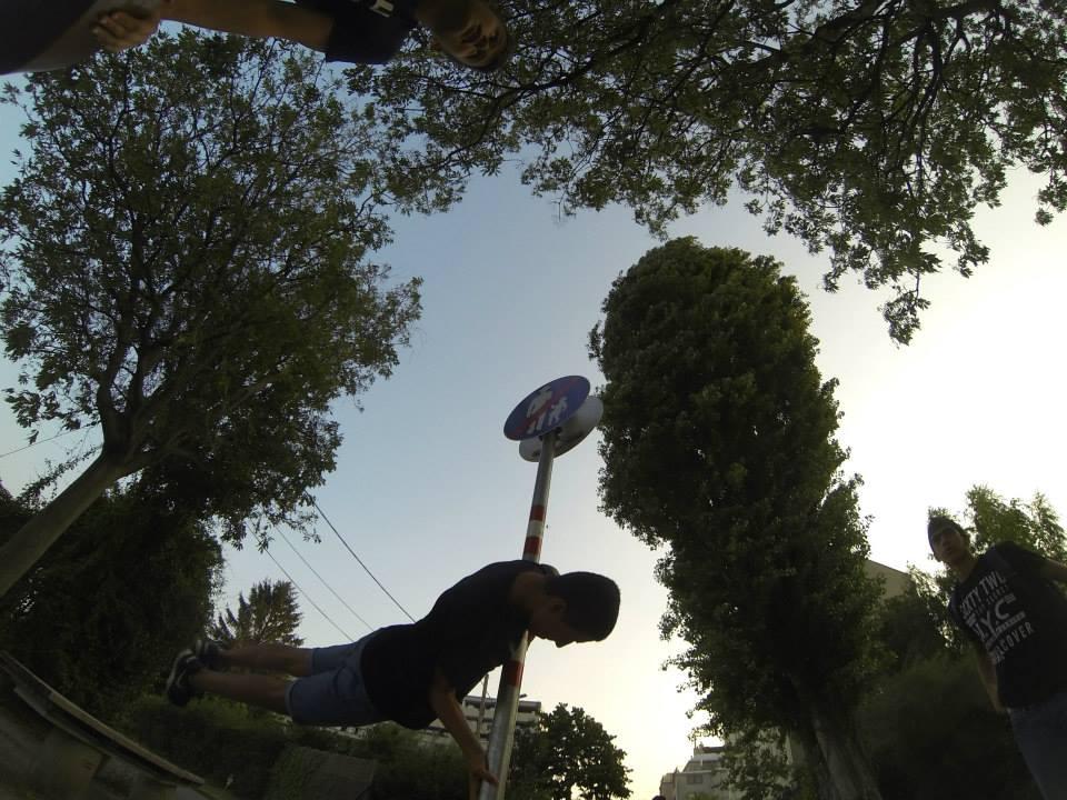 International Street Workout ISW - Österreich Wien - Vienna Austria - Donauinsel - Training - Das Glück ist wetterwendisch und rund gleich wie ein Ball