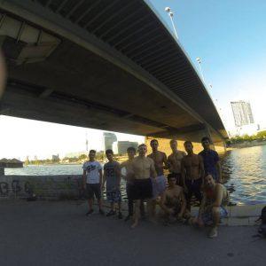 International Street Workout ISW - Österreich Wien - Vienna Austria - Donauinsel - Training - Nicht der Glückliche, sondern sein Glück hat die vielen Freunde