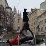 International Street Workout ISW - Österreich Wien - Vienna Austria - Roßauer Lände - Donaukanal - Wünsche nicht nur gute Gesundheit, auch Zufriedenheit