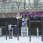 International Street Workout ISW - New Year Workout - Roßauer Lände - Unsere Harmonien sind nur Balancen