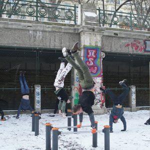 International Street Workout ISW New Year Workout Roßauer Lände Viel Schnee bringt reiche Ernte