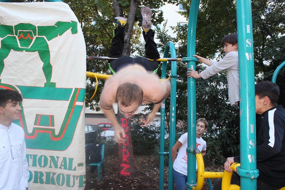 ISW Event in Favoriten - International Street Workout - Calisthenics - Was dem Emporkömmling fehlt, ist der Geschmack, sein Glück zu zeigen