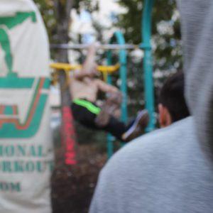 ISW Event in Favoriten - International Street Workout - Training Der Künstler trägt die Zeit nicht, er richtet sich nach dem Zeiger des Universums
