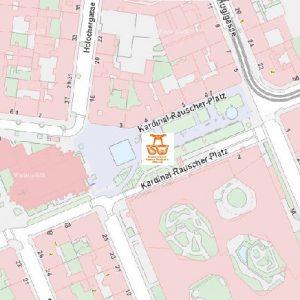 Stadtplan Wien - Johnstraße - Kardinal-Rauscher-Platz - Sportplatz für Street Workout und Calisthenics - ISW - Vienna Austria - Österreich Wien - Rudolfsheim-Fünfhaus