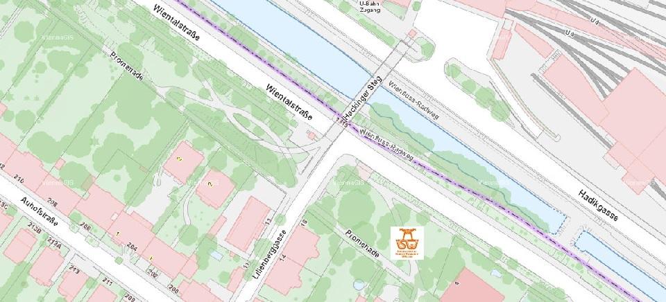 Stadtplan Wien - Lilienberggasse - Sportplatz für Street Workout und Calisthenics - ISW - Vienna Austria - Österreich Wien - Penzing
