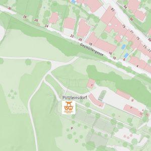 Stadtplan Wien - Pötzleinsdorfer Schlosspark - Sportplatz für Street Workout und Calisthenics - ISW - Vienna Austria - Österreich Wien - Währing