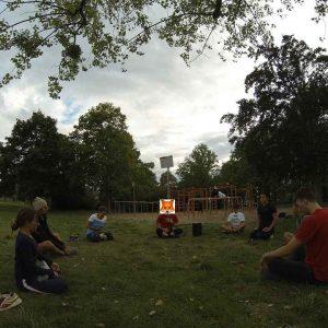 ISW + WIG + FOX Initiative Gesunde Bezirke Wien - Donauinsel Trainingspark Vienna Austria - Selten kommen Glück und Verstand zusammen