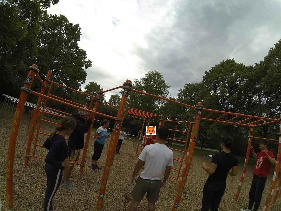 ISW + WIG + FOX Initiative Gesunde Bezirke Wien - Donauinsel Trainingspark Vienna Austria - Zusammen verbrachte Zeit festigt das Miteinander